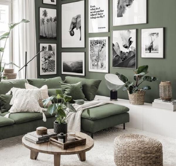 Sơn nhà màu xanh rêu hợp mệnh Mộc