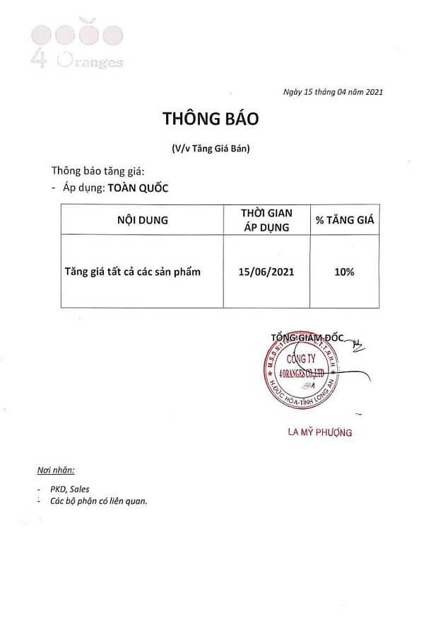 Sơn Mykolor tăng giá từ ngày 15-06-2021