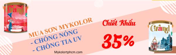Chiết khấu tại siêu thị sơn Mykolor TPHCM